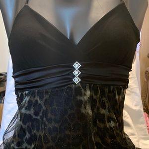 DEB Babydoll Dress with leopard print size XL